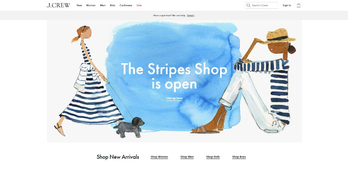 ecommerce design example