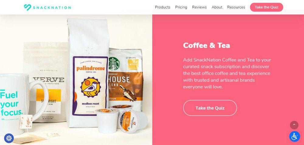 snacknation web page
