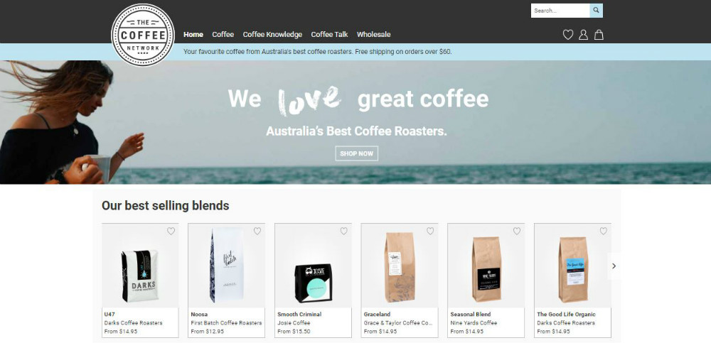 the_coffee_network web page